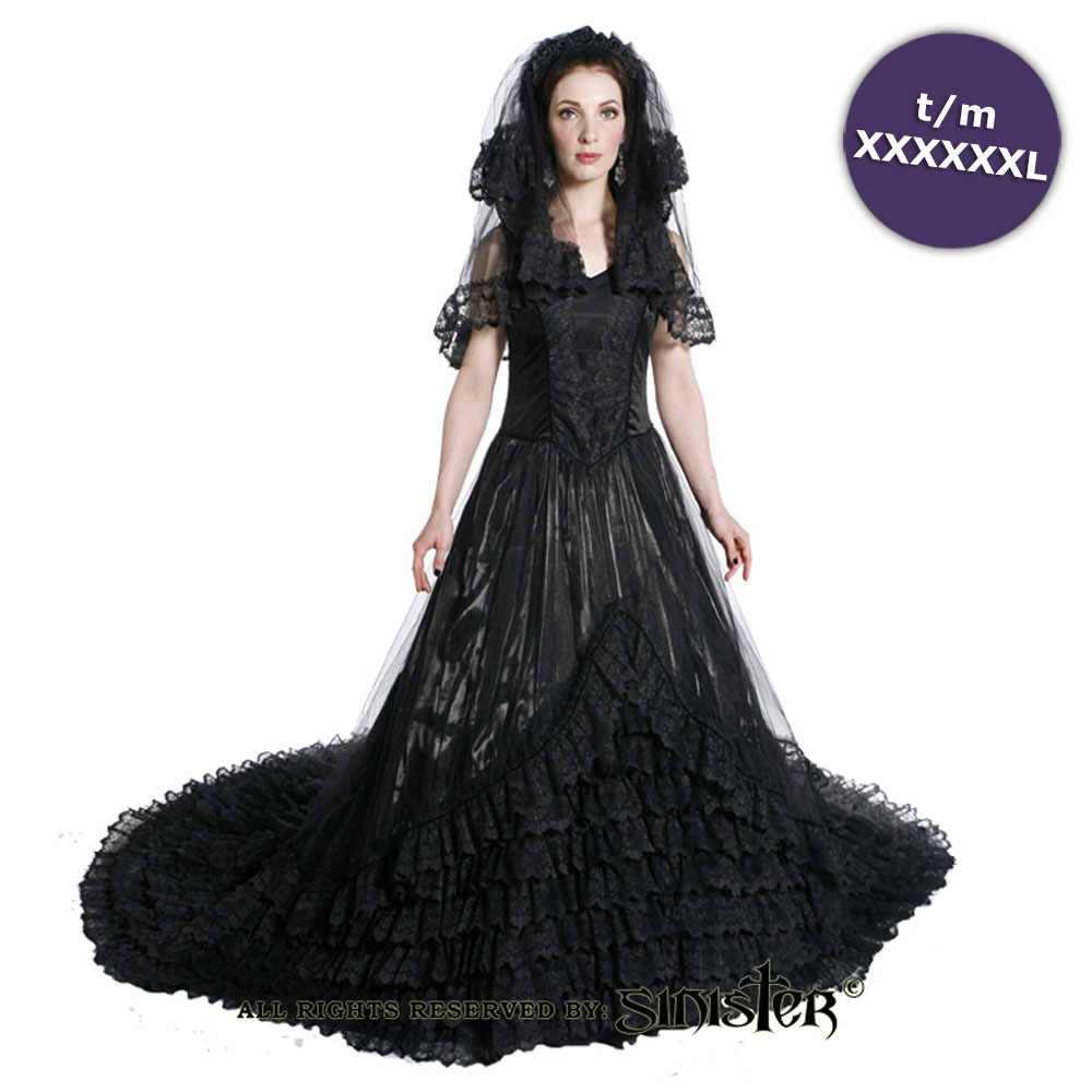 Eleanor lange middeleeuwse gothic taffet
