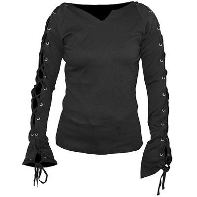 Gothic fantasy metal dames shirt met lan