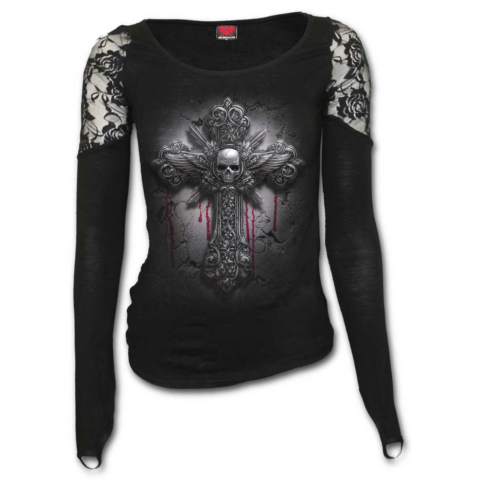 Crucifix, gothic metal fantasy cross top