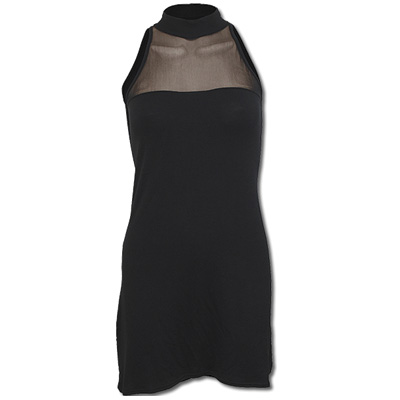Halterneck dress black