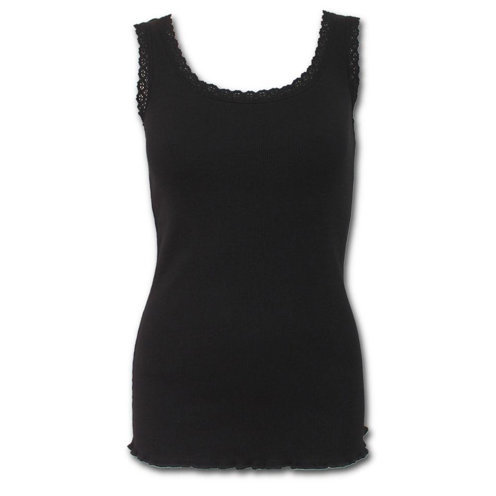 Urban Fashion, basic dames top met kante