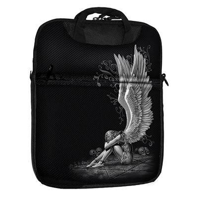 Enslaved Angel tablet shoulderbag black