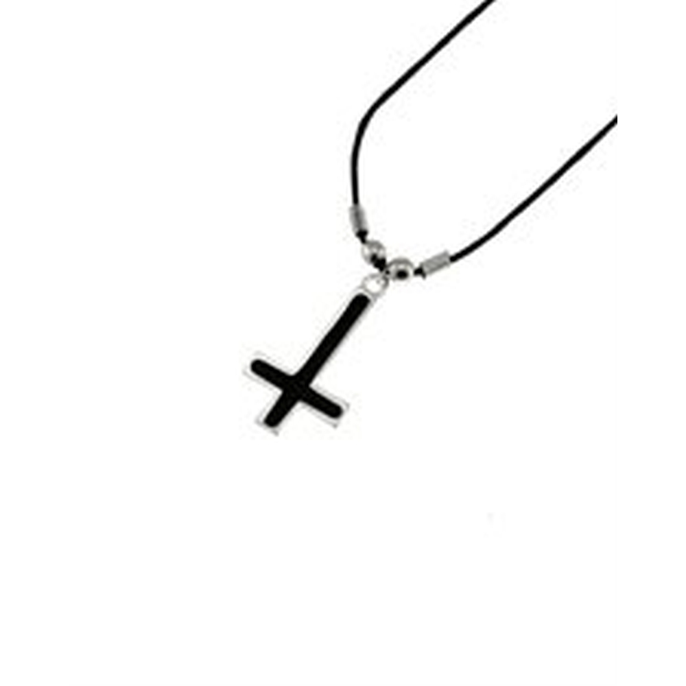 Cross necklace black - Zac's Alter Ego