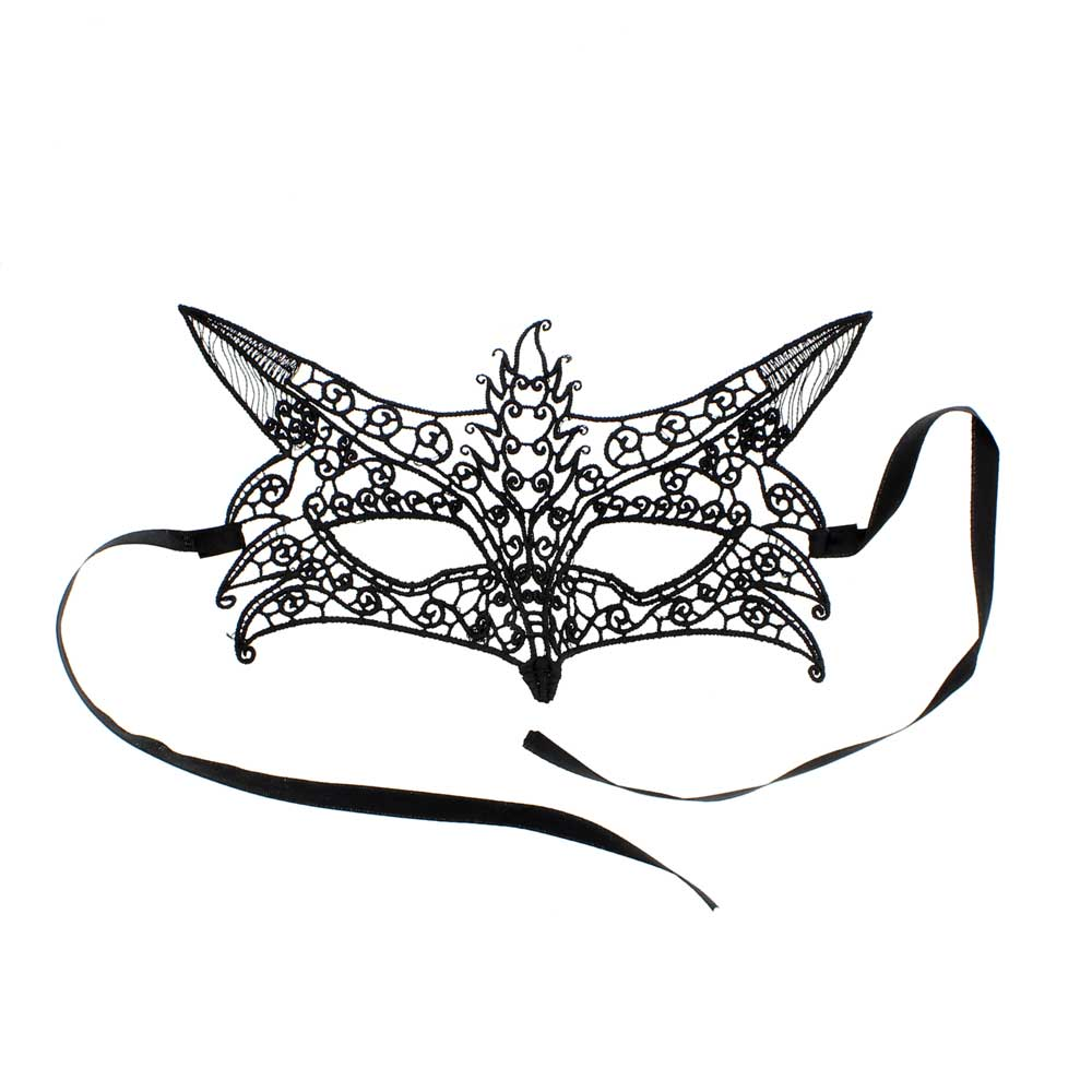 Lace fox mask black - Zac's Alter Ego