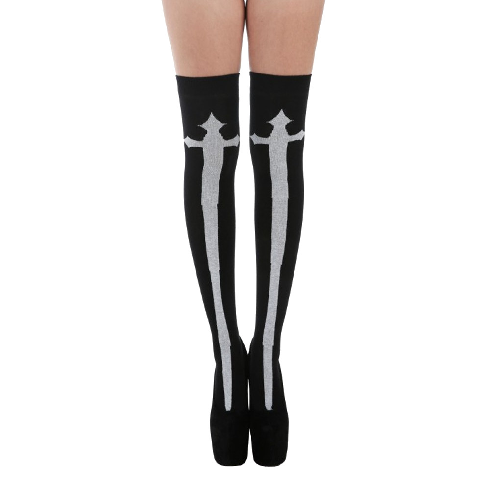 Goth Cross holdups black – One size –