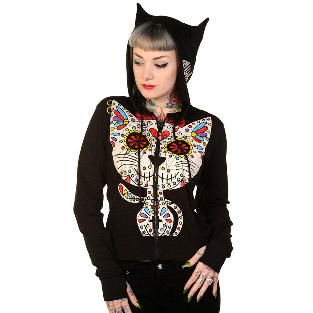 Sugar Kitty vest met print en katten ore