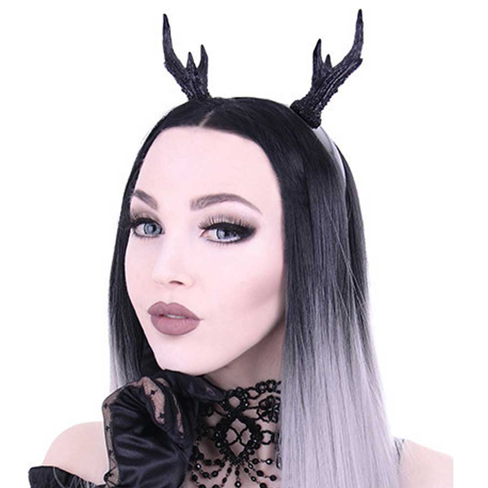 Restyle Deer antler horns headband accessory black - One size - Restyle 1affe2b38a06