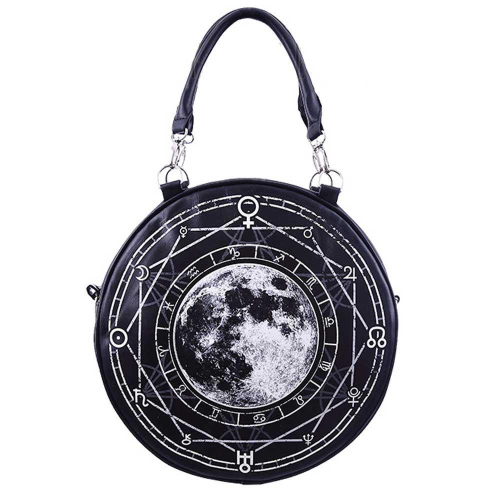 Luna Full Moon round shoulder/handbag bl