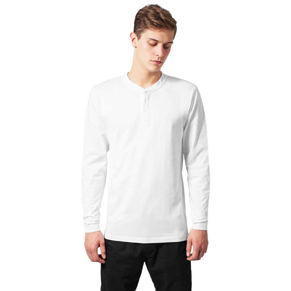 Basic Henley heren shirt wit